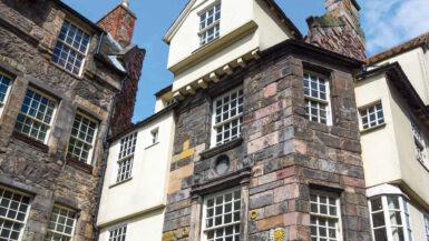 Old buildings on the Royal Mile in Edinburgh