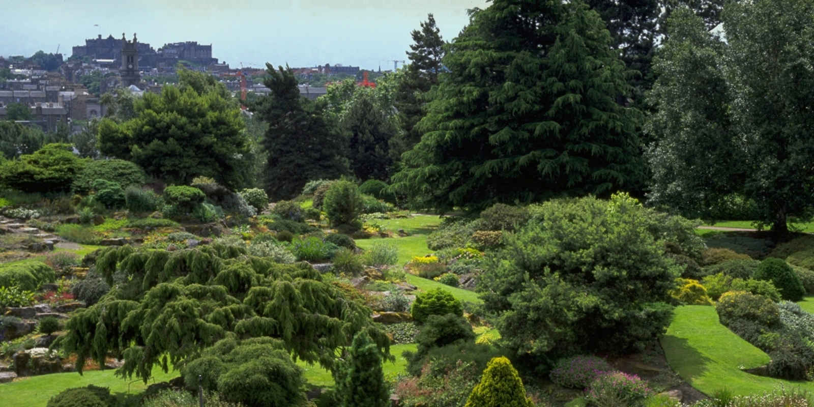Rock Garden with Edinburgh Castle in the distance