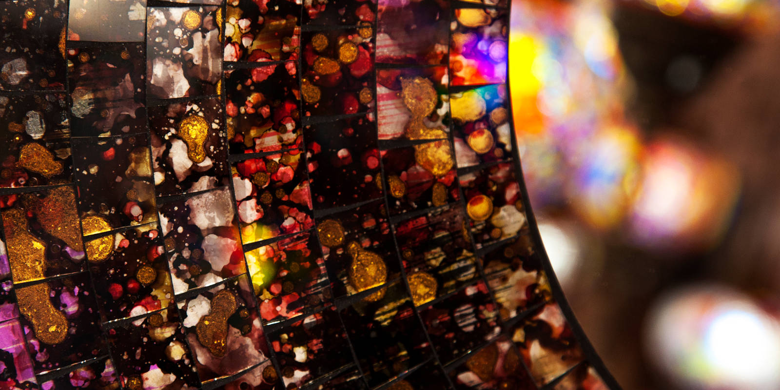Colourful mosaic of mirrors
