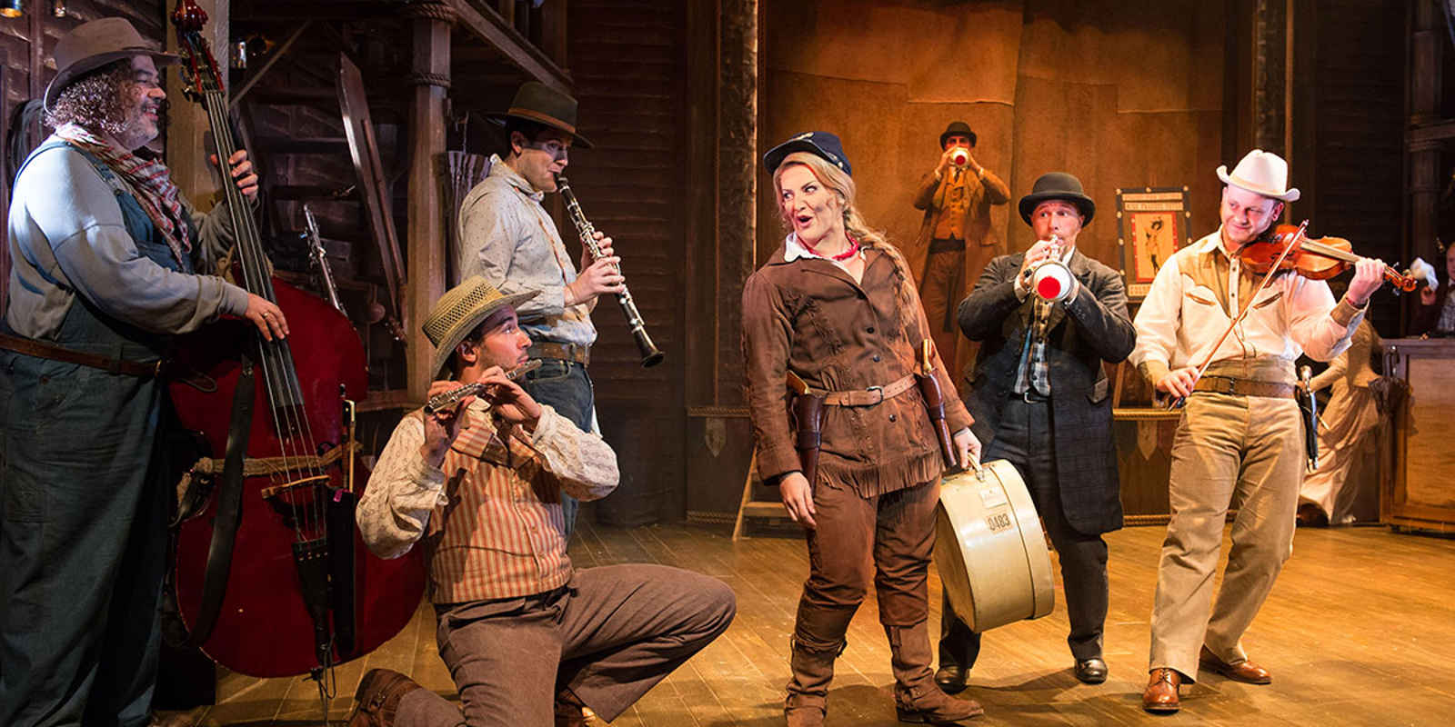 Cast of Calamity Jane Musical on stage