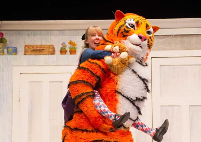 Sophie on Tiger's back
