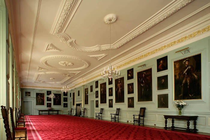 The Great Gallery in the Palace of Holyrood House Edinburgh