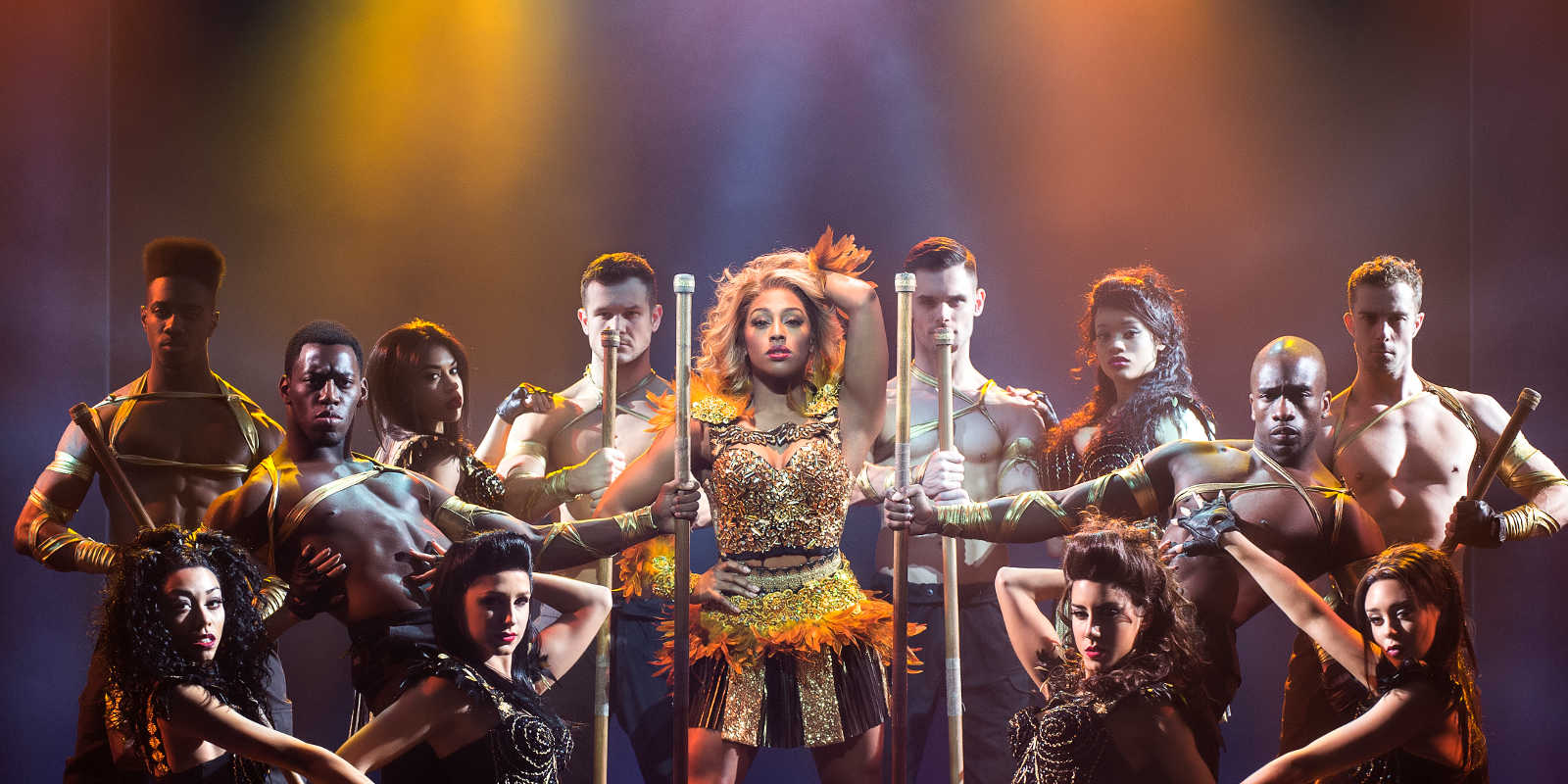 Alexandra Burke and dancers in The Bodyguard Musical