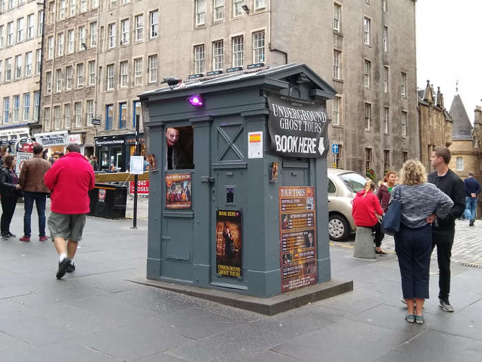 Police Box used by City of Edinburgh Tours on the Royal Mile