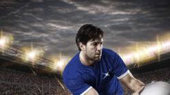 Scottish rugby player in stadium