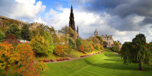 Princes Street Gardens Edinburgh in Autumn