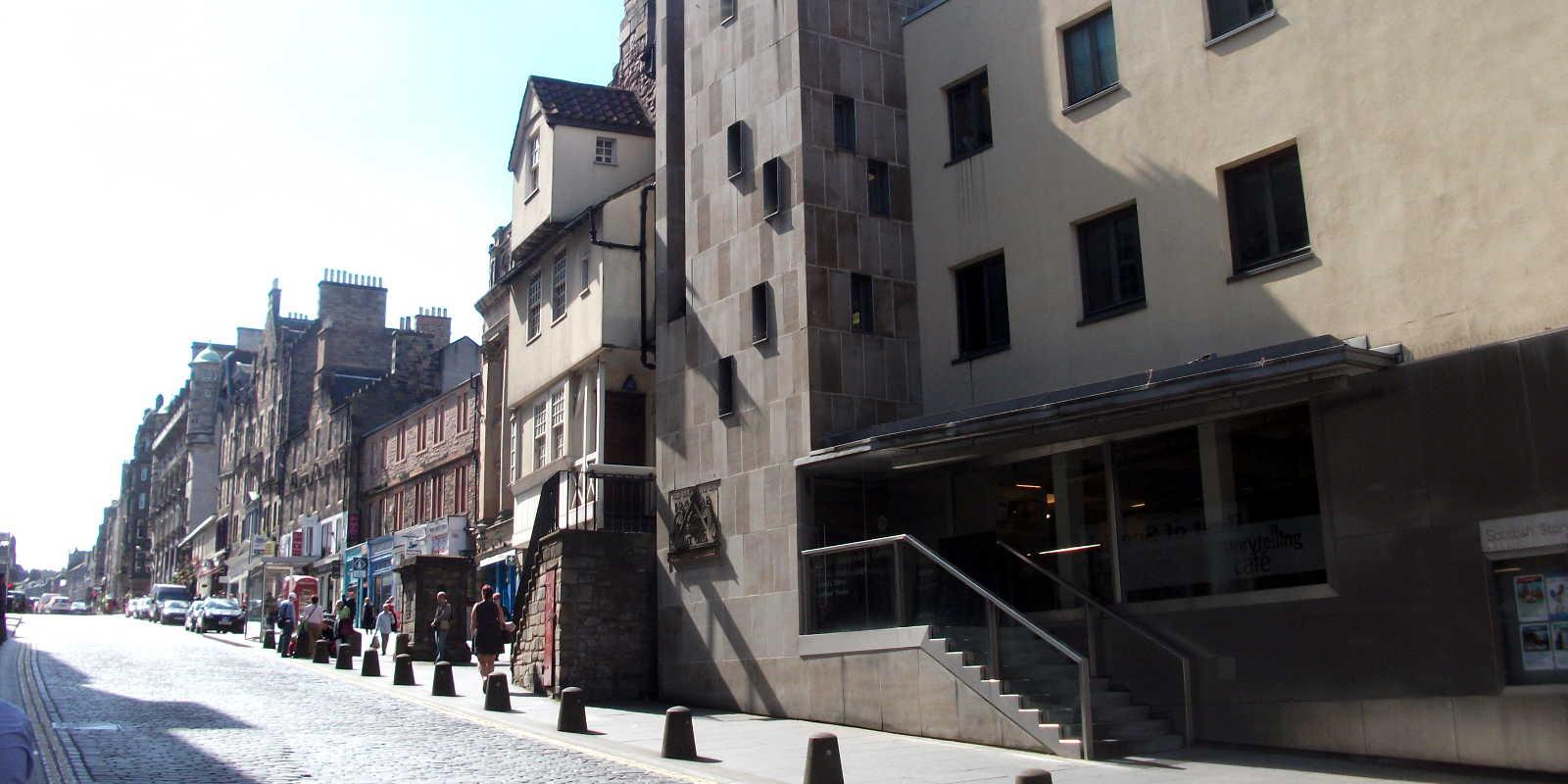 Scottish Storytelling Centre on the Royal Mile in Edinburgh