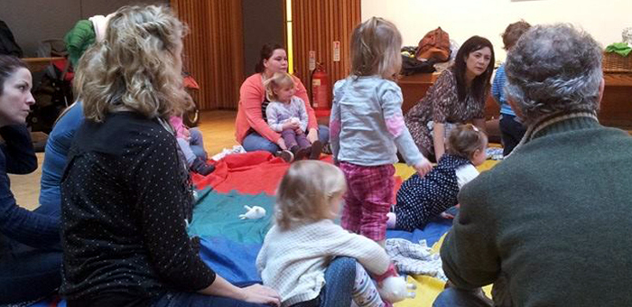 Children at a storytelling event