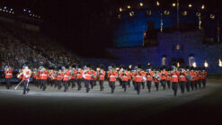 Band of the Scots Guards on parade at Edinburh Military Tattoo