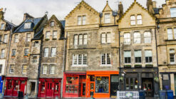 Shops and buildings in Edinburgh's Grassmarket