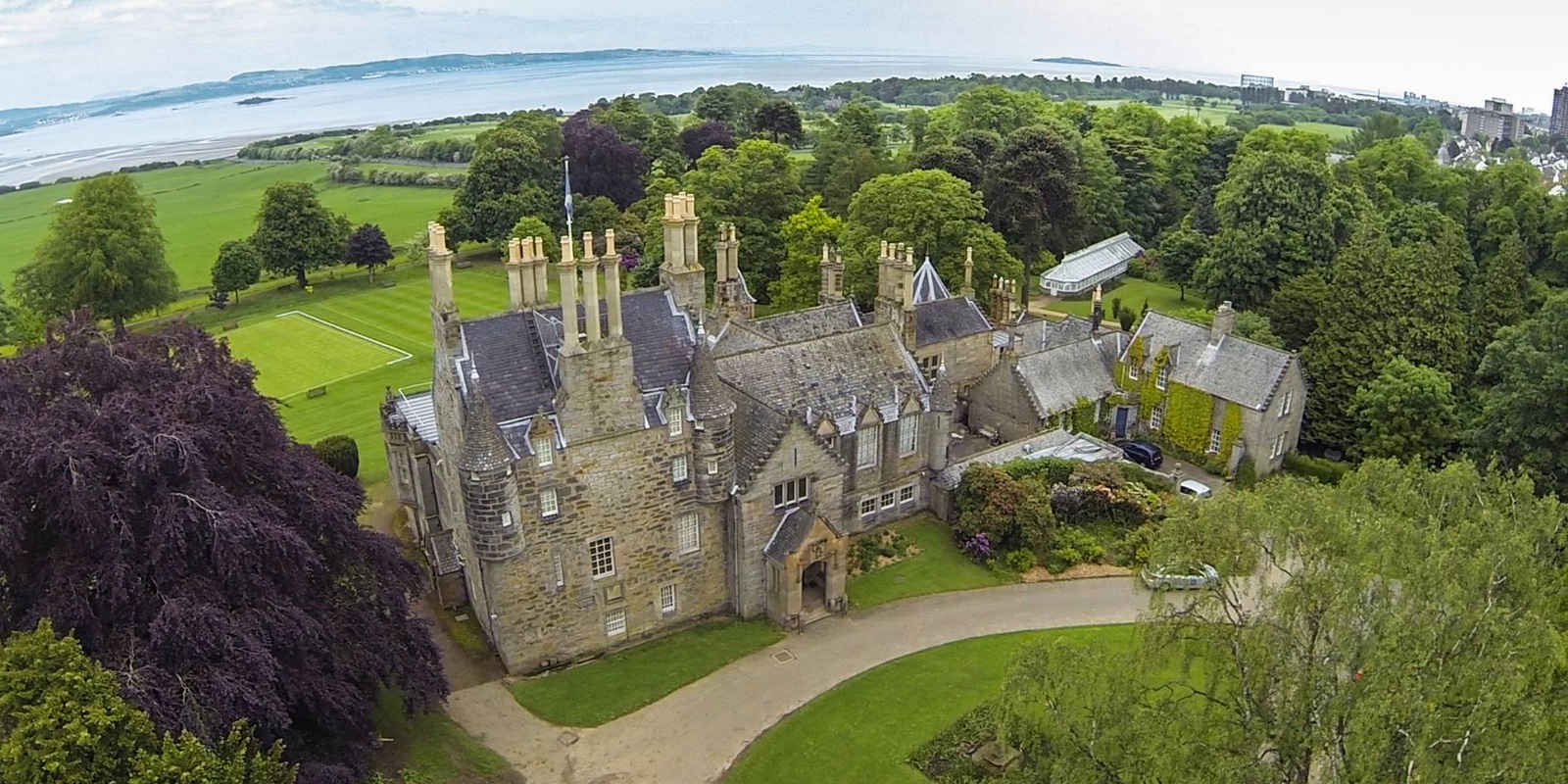 View of Laurison Castle from above