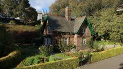 Victorian house and garden in Princes Street Gardens