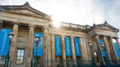 The Scottish National Gallery neoclassical building