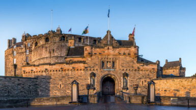 Front door view of Edinburgh Castle
