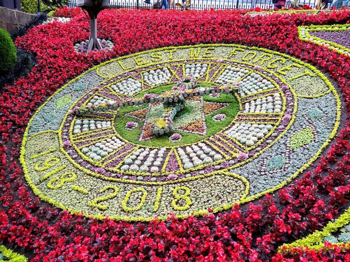 Finished Floral Clock 2018 in Edinburgh