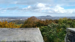 View of Edinburgh from the top of Corstorphine Hill Tower
