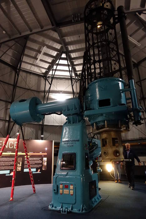 Telescope inside Dome at Royal Observatory in Edinburgh