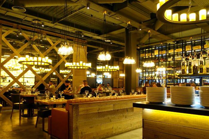 Interior of Fazenda Restaurant in Edinburgh