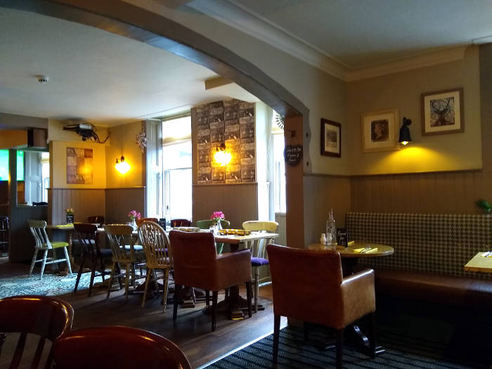 Interior shot of Juniper Green pub